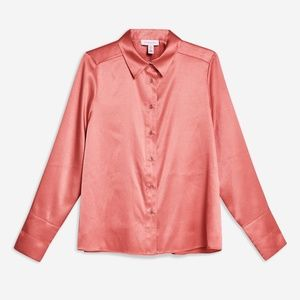 Topshop Satin Blouse